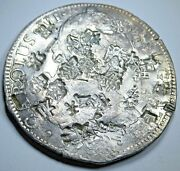 1700and039s Chopmarks Mexico 8 Reales Antique Spanish Counterstamp Silver Dollar Coin