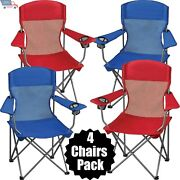 Folding Camping Chair Portable Fishing Stool Outdoor Camp Patio Seat Yard Lounge