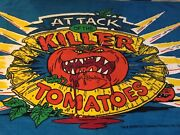 Vintage 1990 Attack Of The Killer Tomatoes Beach Towel New Htf Rare