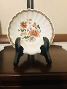 Vintage/limoges Porcelain Shell Bowl Style In Compagnie Des Indes W/ Peonies