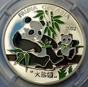 Korea 2 Won 2002 Pandas Color Silver World Wide Fund For Nature Ag 999