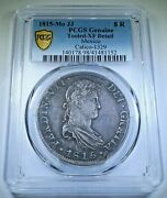 Pcgs Xf Details 1815 Spanish Mexico Silver 8 Reales Antique Colonial Dollar Coin