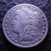 1882-cc Morgan Silver Dollar - Solid Fine F Details From The Carson City Mint
