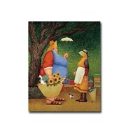 Market Day By Lowell Herrero Gallery Wrapped Canvas Giclee 20 X 16