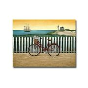 Cycle To The Beach By Lowell Herrero Gallery Wrapped Canvas 18 X 24