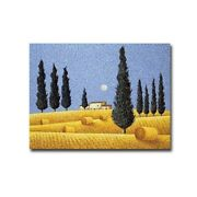 Cypress And Hay By Lowell Herrero Gallery Wrapped Canvas 18 X 24