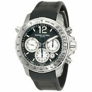 Raymond Weil Men's 'nabucco' Chronograph Watch Solid Color, Ruched French Countr