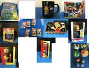 The Simpsons Collection Clocks Watch Lamp Duff Mug Chess Checkers - Huge Sale