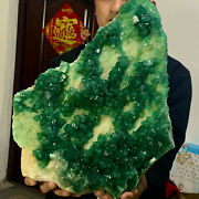 37.98lb Natural Calcite Octahedral Greenfluorite Crystal Cluster Mineral Spec