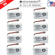 Replacement Battery For Uniden Dect 6.0 Bt1007 Bt-1007 Cordless Phone 8-pack Usa