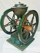 S. H. Koffee Krusher Antique Cast Iron Coffee Grinder Mill Simmons Hardware Blue