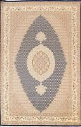 Vegetable Dye Geometric Tebriz Oriental Area Rug Dining Room Hand-knotted 7and039x10and039