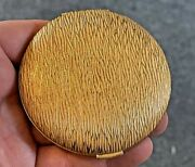Vintage Charles Of The Ritz Gold-tone Powder Compact