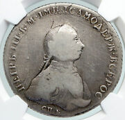 1762 Cnb Hk Russia Emperor Peter Iii Eagle Antique Silver Rouble Coin Ngc I91590