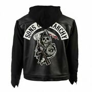 Soa Sons Of Anarchy Highway Motorbiker Hooded Real Leather Jacket
