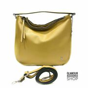 Woman Bag Classic Bag Genuine Leather Made In Italy Yellow Brown Black