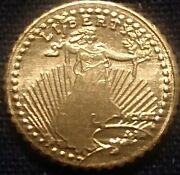 1907 St.gaudins Mini Gold Coins