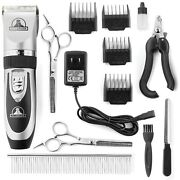 Pet Union Yp-pm7c-td85 Professional Dog Grooming Kit Silver