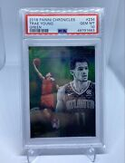 2018-19 Panini Chronicles Trae Young Essentials Rookie Card Green Psa 10 Hawks
