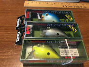 Lot Of 3 Rapala Balsa Dt Fat-1 Lures New In Boxes 3 Patterns