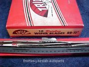 2 Nos Shiny Stainless Steel Trico Wiper Blades With Dots Packard 51 52 53 54