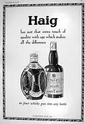 Old 1930 John Haig Scotch Whisky Schweppes Ginger Ale Soda Water Toni 20th