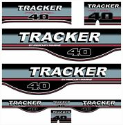 Tracker 40hp Pro Series Decal Set Outboard - Cover Stickers