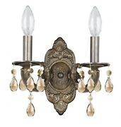 Paris Market - 2 Light Wall Mount In Natural Organic And Raw Style - 10.5 Inches