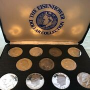 1971-1978 Eisenhower Dollar Proof Silver And Clad 11pc Set
