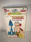 Just For Kids Foofur Fencer's Freaky Friday Vhs Animatedmini Features Rare Testd