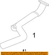 Chrysler Oem-exhaust System-catalytic Converter And Pipe Right 5039056ag