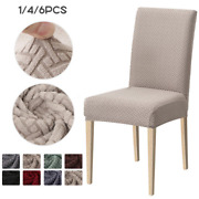 Jacquard Chair Dining Covers Elastic Slipcover Case Kitchen Stretch Chair Covers