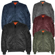 Menand039s Jacket Premium Padded Water Resistant Reversible Flight Bomber Outerwear
