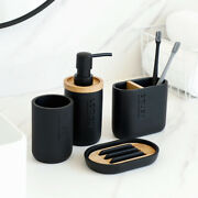 Soap Dishes Toothbrush Holder Luxury Bathroom Set Lotion Dispenser Tumbler Cup