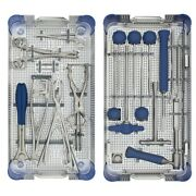 Orthopedic Instruments Set For Posterior Thoracolumbar Fixation System.