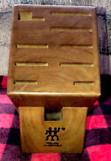 J.a. Henckels Wood 9 Slot Knife Block New Never Been Used Just Took Knifes Out.