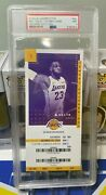 2018 Lebron James First Home Debut Game Ticket Los Angeles Lakers Psa 9 Pop 3