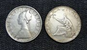 Italy Two Silver Coins 1959 500 Lire And 1961 500 Lire