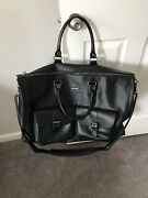 Hook And Albert Game Changer Perforated Leather Weekender Garment Duffle Bag