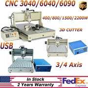 Usb 3/4 Axis Cnc 3040/6040/6090 Router Engraver Drill Milling Engraving Machine