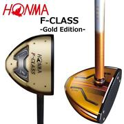 Honma Brand New Park Golf Club F-class Gold 300 Limited Edition W/ Head Cover Jp