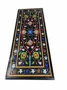 Marble Black Dining Conference Table Multi Stone Mosaic Inlaid Art Outdoor Dandeacutecor