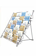 Greeting Card Stand -large Collapsible Display In Black For Shops And Stalls E6b