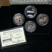 Rarities Mint - Space Shuttle 4 1 Troy Oz .999 Fine Silver Collectible Rounds