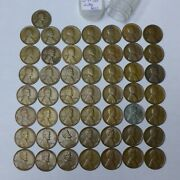1909-1958 Lincoln Wheat Cent 1 Coin Each Year Set 50 Coins Including 1922-d