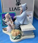 Lladro Cinderella And Fairy Godmother - Autographed, Dated Limited Edition New