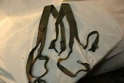 Us Military Issue Ww2 Wwii Army Usmc H Suspenders Canvas Combat Suspenders S1