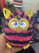 Hasbro Furby Boom Pink Black Stripes Interactive Pet Toy Tested Works