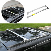 Silver Roof Rail Luggage Rack Luggage Carrier For 2011-2021 Jeep Grand Cherokee