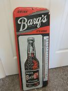 Vintage Advertising Barq's Rb Soda Fountain Tin Thermometer  Store A-560